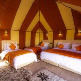 quatriple tent